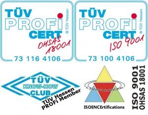 Certifications 9001 18001