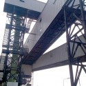 Bulk material transportation plant
